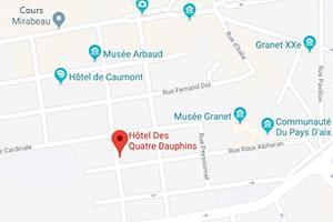 Google Maps - Hotel des Quatre Dauphins
